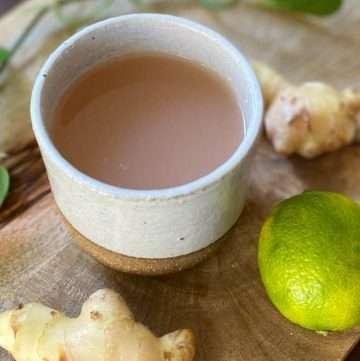 fresh ginger root tea
