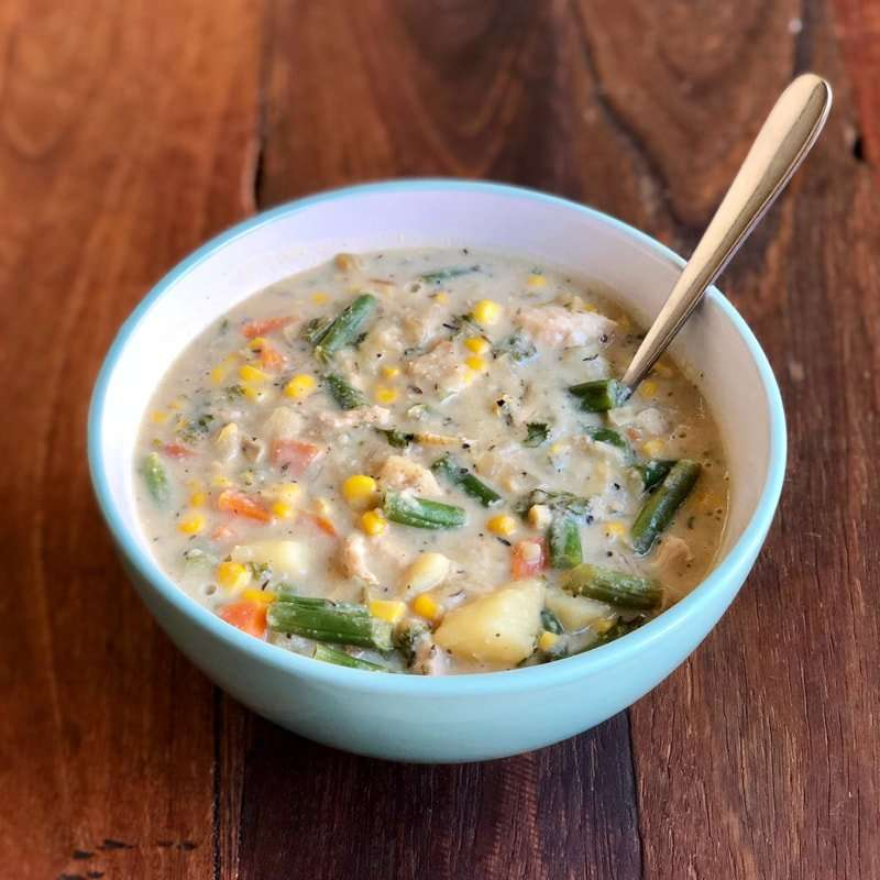 Chicken Pot Pie Soup Recipe - Amber's Natural Nutrition