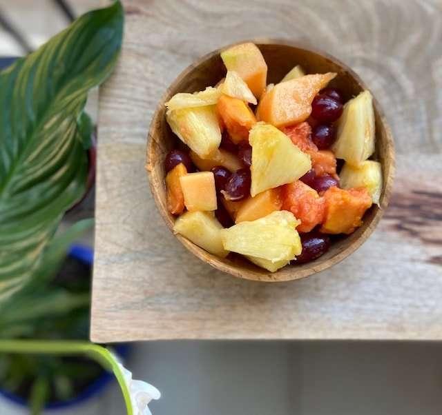 Low fodmap tropical fruit salad