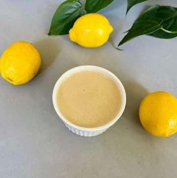vegan lemon tahini dressing
