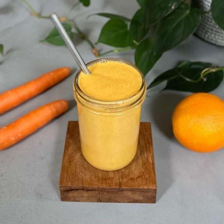 low fodmap carrot orange smoothie